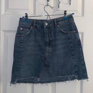 Top Shop -Moto denim mini skirt
